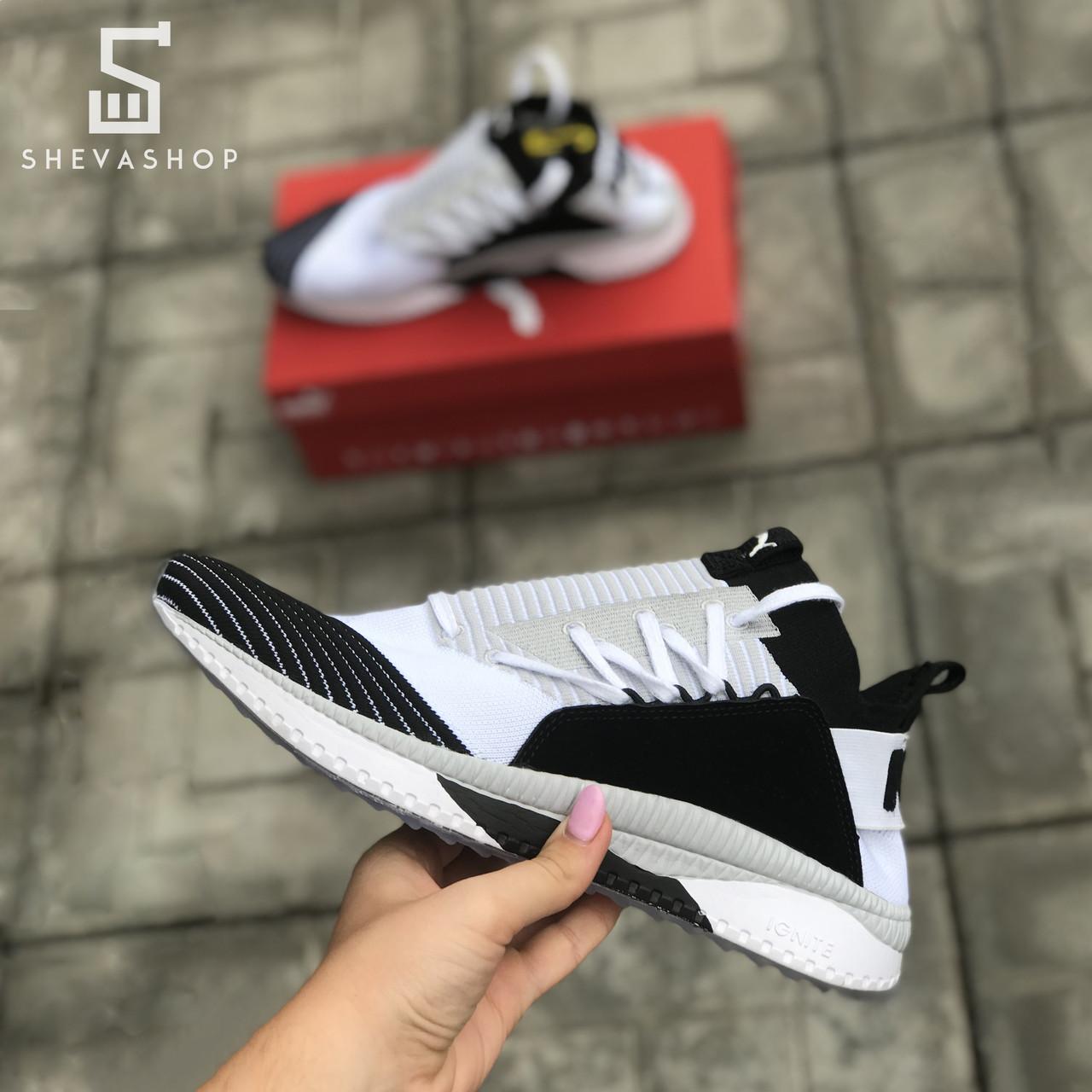 Мужские кроссовки P*ma Ignite белые с чёрным (копия)