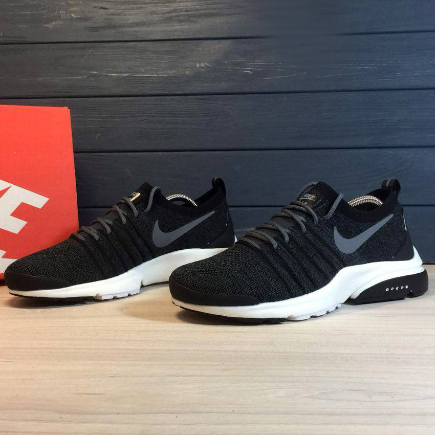 Nike Air Presto Fly Uncaget Black White  (реплика)  только 44й размер