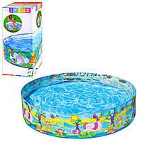 Детский каркасный бассейн джунгли Intex 58474: размер 122х25см