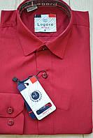 Детская бордовая приталенная рубашка LAGARD (размеры 18)