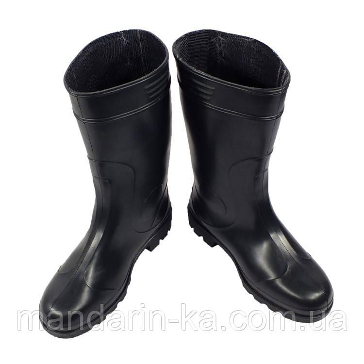 Сапоги мужские резиновые черные