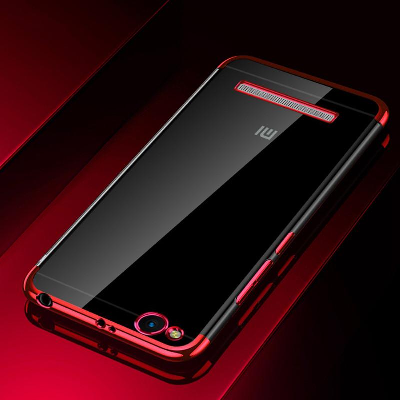 Чехол бампер для Xiaomi Redmi 3 силиконовый Frame Red