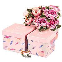 """Набор коробок """"Только для тебя"""" (пудровый цвет) 3шт"""