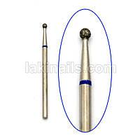 Алмазная насадка (бор) для фрезера, сфера 001 синяя 2,3 мм