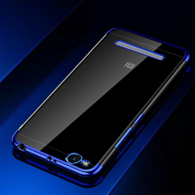 Чехол бампер для Xiaomi Redmi 3 силиконовый Frame Blue