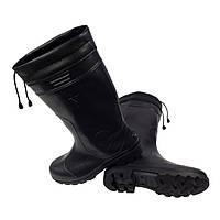 Сапоги резиновые черные шнурок, фото 1