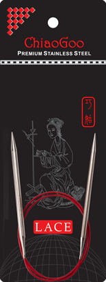 Круговые спицы с удлиненным кончиком ChiaoGoo SS RED LACE 2,75 мм (40 см)