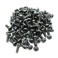 Винты  T6 чёрные 1,5х4 мм (упаковка 100 шт)