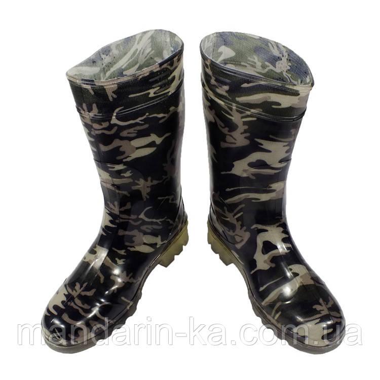 Сапоги мужские резиновые камуфляж