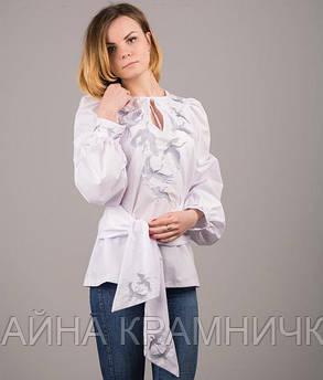 """Блуза вишиванка """"Журавлі"""" рр.44-48"""