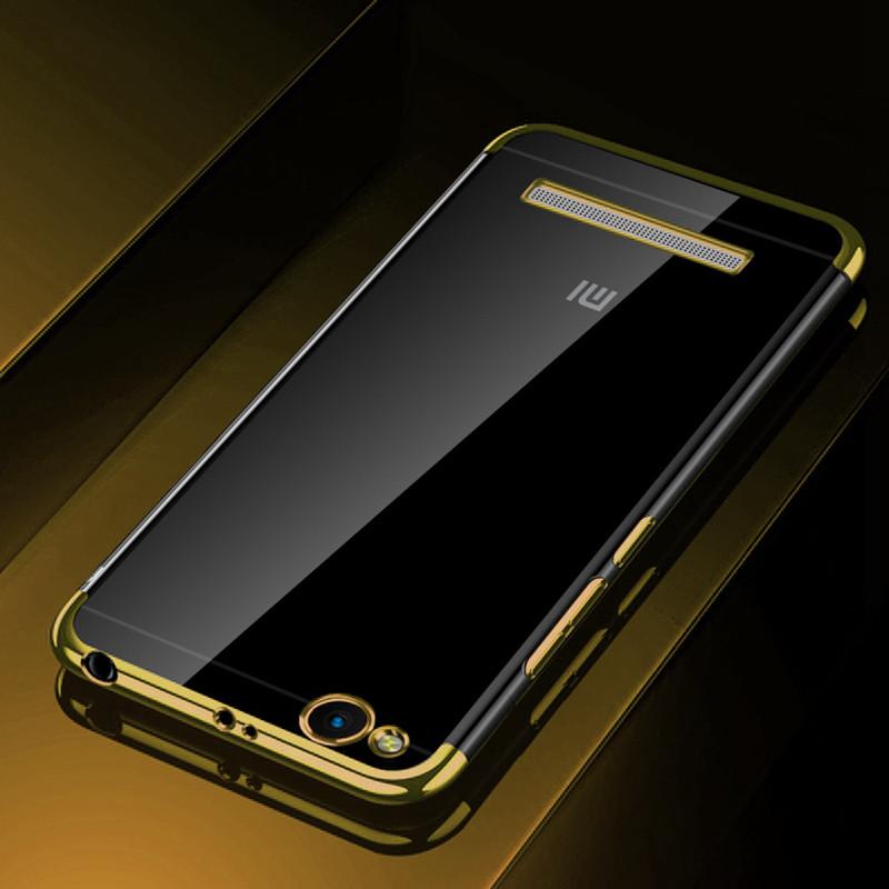 Чехол бампер для Xiaomi Redmi 3 силиконовый Frame Gold