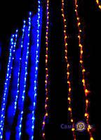 🔝 Светодиодная гирлянда, штора, 320 LED, двухцветная (желто-голубая) | 🎁%🚚