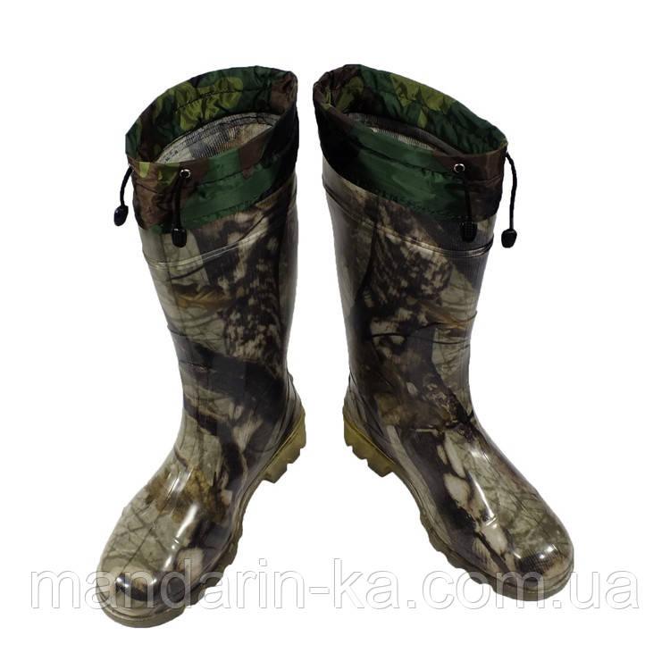 Сапоги мужские резиновые дубок шнурок