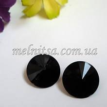 Пришивной декор, серединка конусна, 15 мм, колір чорний
