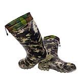 Сапоги мужские  резиновые камуфляж  шнурок, фото 2