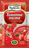 Томатная паста пастеризованная 25% ТМ Первоцвіт, 70 г