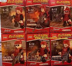 Лего военный спецназ red men elite forces zb206, фото 3