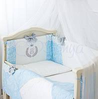 Комплект детского постельного белья De Lux голубой, фото 1