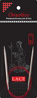 Круговые спицы ChiaoGoo с удлиненным кончиком SS RED LACE 10,0 мм (40 см)