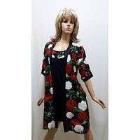 Комплект халат и ночная рубашка с розами 411, фото 1