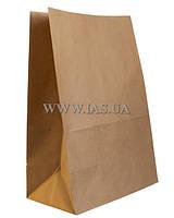 Пакеты из бурой крафт бумаги 360х150х90