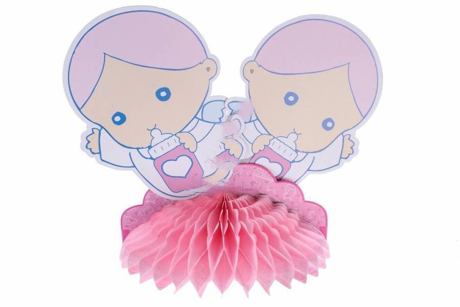 """Подвесной бумажный декор  """" Малыши"""", розовый"""
