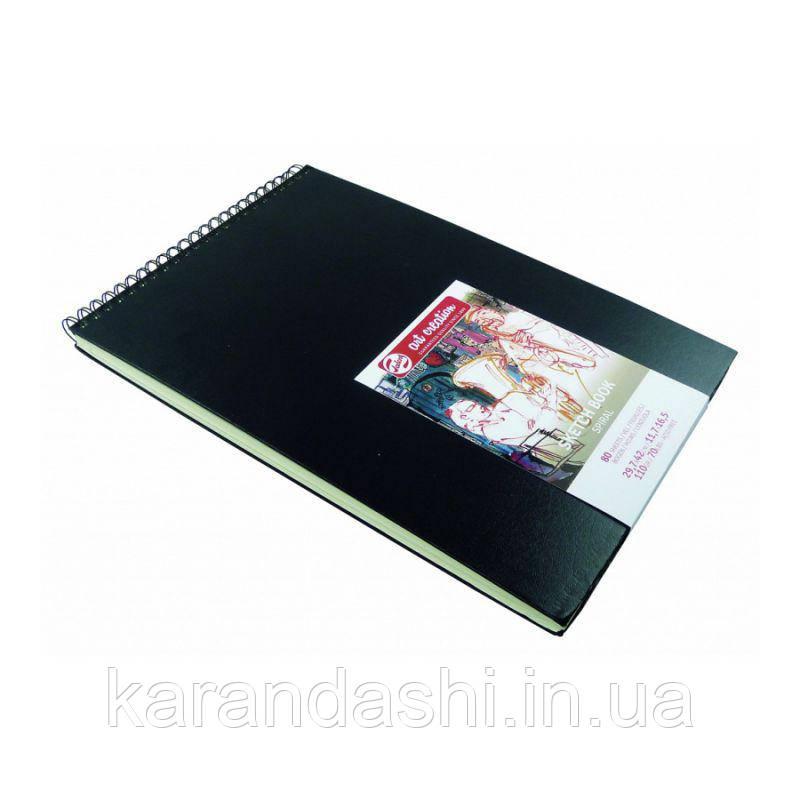 Блокнот для графики Talens Art Creation 42*29,7см 80л 110г/м черная обложка на спирали