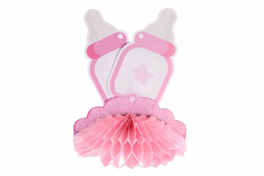 """Подвесной бумажный декор  """" Бутылочки"""", розовый"""