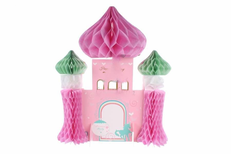"""Подвесной бумажный декор  """" Замок"""", розовый"""