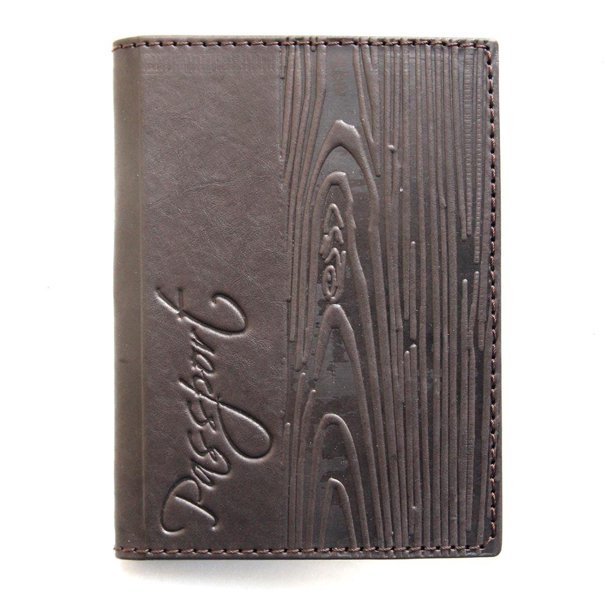 """Обложка для паспорта кожаная """"Кора"""" (Guk)"""