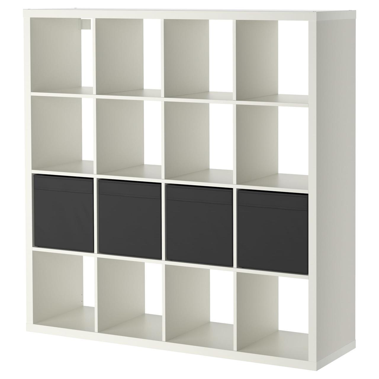 IKEA KALLAX (890.305.84) Книжный шкаф с 4 вставками