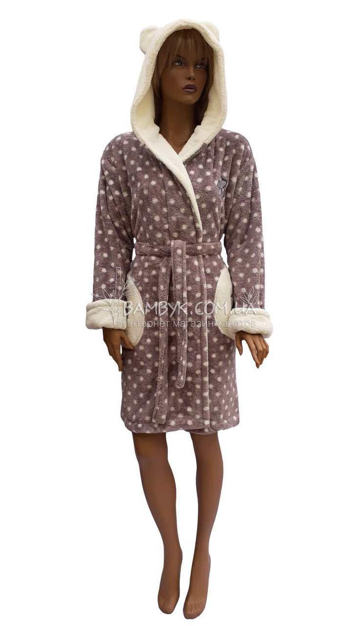 0759f328a367 Теплый молодежный халат с ушками Massimo Monelli № 90312: продажа ...