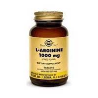 Аминокислота Л-Аргинин 1000 мг 90 капсул - Солгар