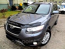 Дефлектор капота (мухобойка) Hyundai santa fe II (хюндай санта фе) 2006-2012