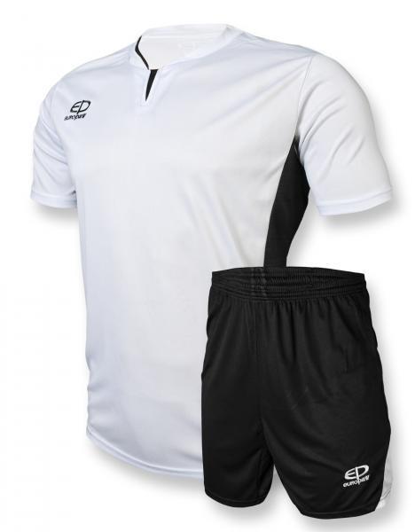 Футбольная форма Europaw (бело-черная) 005 (L)