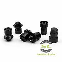 Комплект гаек (секретки) Starleks Прессшайба (М12х1.5х37.5) Черные/Премиум/Вращающееся кольцо/Блистер