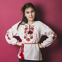"""Сорочка вишиванка підліткова """"Троянда"""" р-р.146-164"""