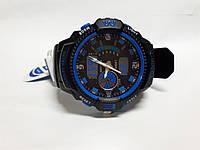 Часы K-Sport 899 электронные + кварцевые в железной подарочной коробке. Синий
