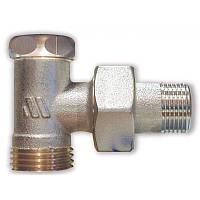 """Нікельований радіаторний клапан відсічний кутовий 193R, 1/2""""НР х 1/2""""НР"""