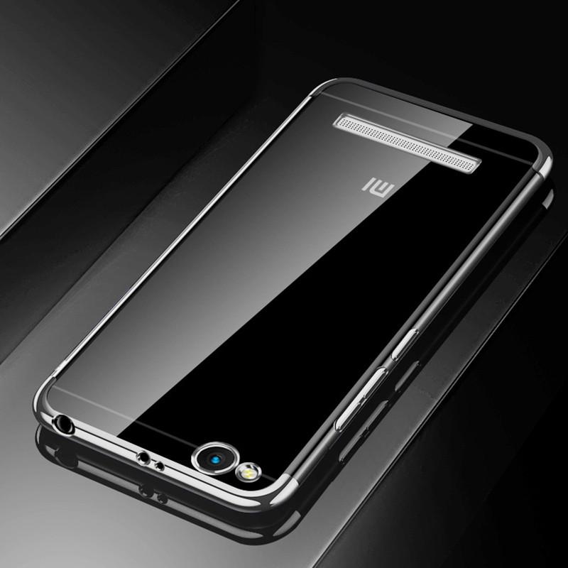 Чехол бампер для Xiaomi Redmi 3 силиконовый Frame Silver