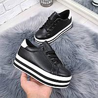 Туфли женские на платформе Faith черные 5266, женская обувь, фото 1