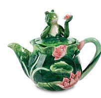 Заварочный фарфоровый чайник Лягушка Pavone CMS - 02/ 4