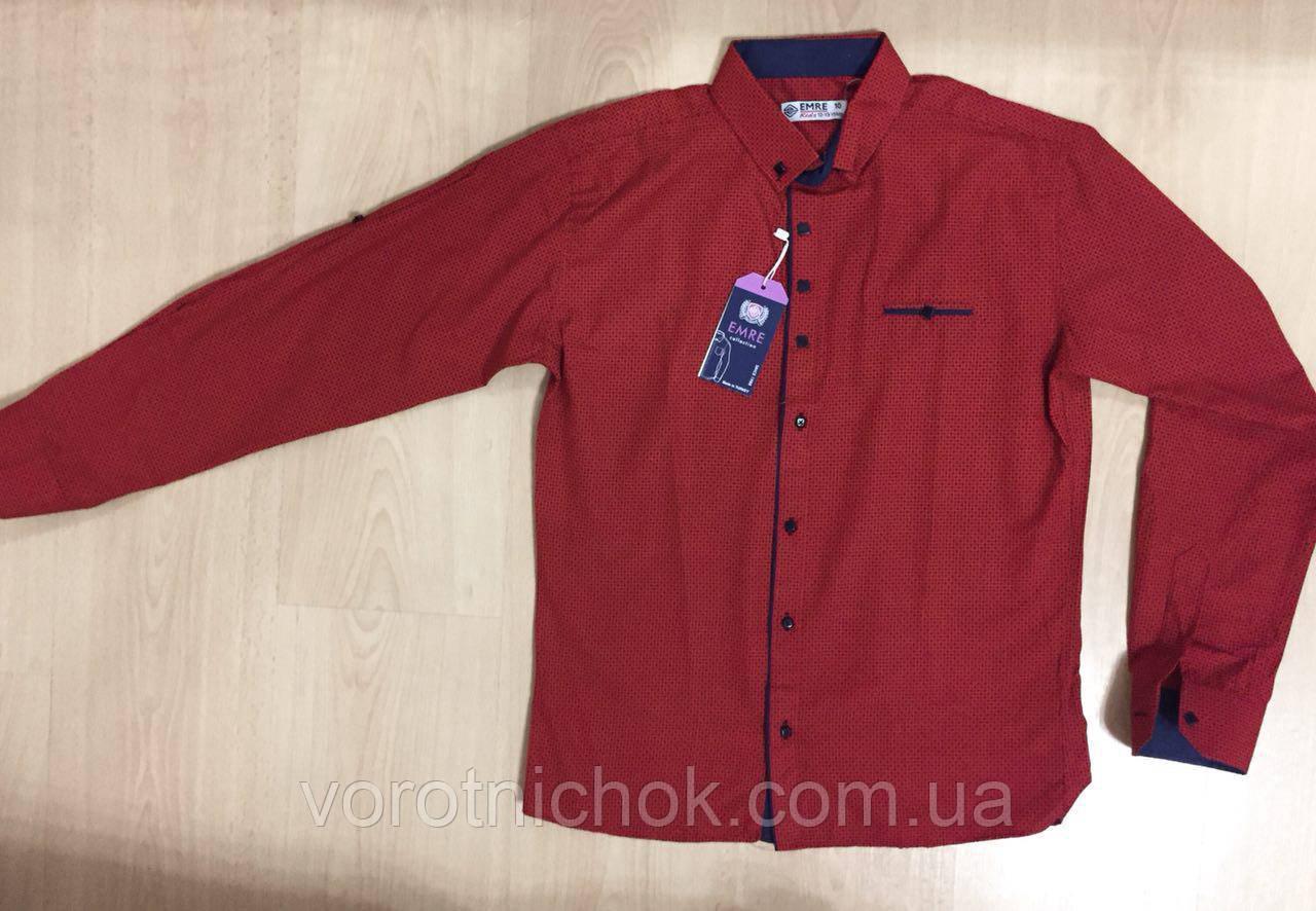 Детская рубашка для мальчиков 7-12 лет