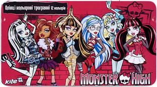 Олiвцi кольорові Monster High, 12 кольорів
