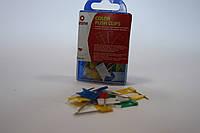 Кнопки-цвяшки з прапорцем кольорові, 30 штук Axent