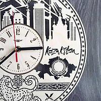 Деревянные часы настенные Город
