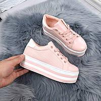 Туфли женские на платформе Faith пудра 5267, женская обувь, фото 1