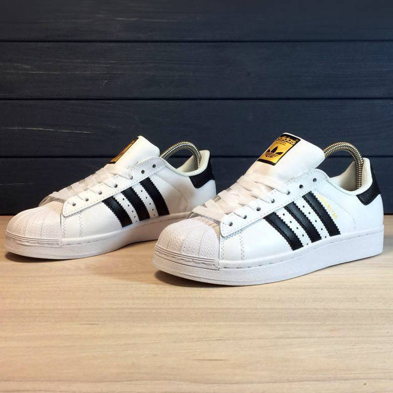 Adidas Superstar White Black  (реплика)  размер 36 размер