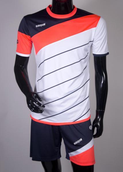 Футбольная форма Europaw (бело-коралловый) 008 (XS)