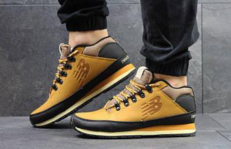 Мужские кроссовки прессованная кожа цвет рыжий, фото 3